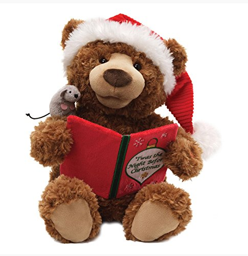 "16"" Brown Plush ""Twas The Night Before Christmas"" Animated Storytime Bear front-846251"