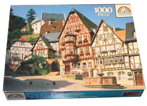 Prestige 1000 Piece Puzzle - Market Squre - Miltenberg, Bavaria, Germany Featuring the Famous Timber Framed Houses and the Octagonal Marktbrunnen, a Renaissance fountain.