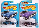 おもちゃ 2015 hot wheels ホットウィール Hw City 50 Years HEMI: '69 Dodge Charger 500 (Blue & Purple) Set of 2! ミニカー モデルカー ダイキャスト 模型 [並行輸入品]