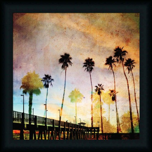 Sunset On The Pier A By Gi Artlab Colored Photography 21X21 Framed Art Print Picture Wall Decor front-838707