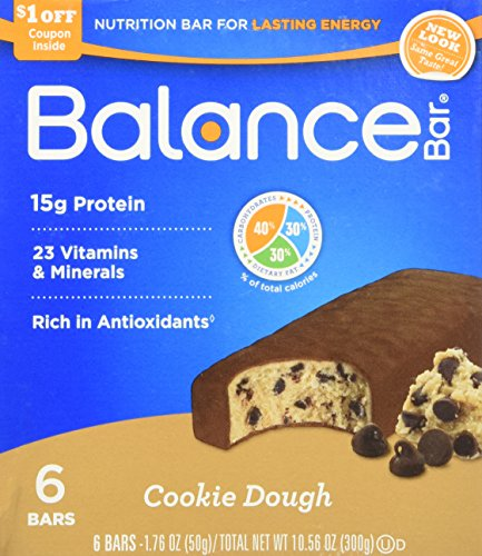 Balance Cookie Dough Nutrition Energy Bar, 6 Count (Balance Energy Bars compare prices)