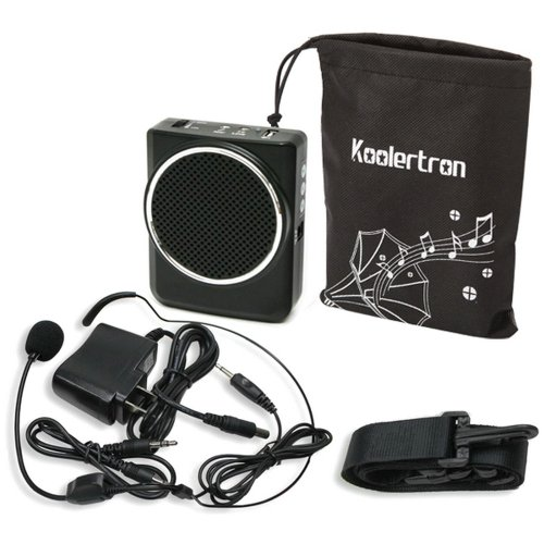 Koolertron® 3.5Mm Portable Voice Amplifier With Microphone Headset 12W 7.5V 2000Mah Lithium Batteries