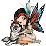 Jasmine Becket-Griffith Fairy Figurine With Real Feathers And Turquoise Accents by The Hamilton Collection