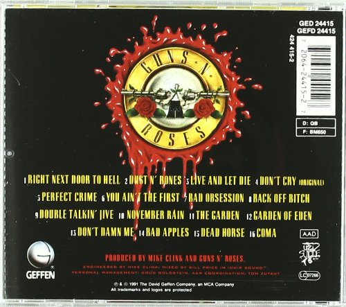 guns n roses albums list