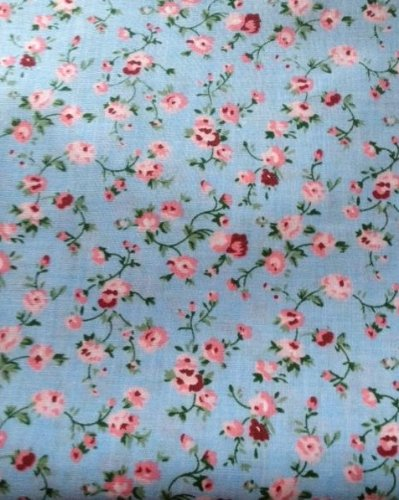 Sale alerts for Hot Pink Haberdashery Vintage Floral Polycotton Fabric, Blue and Pink - Covvet