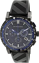 Burberry Men's City BU9806 Black Rubber Swiss Chronograph Watch