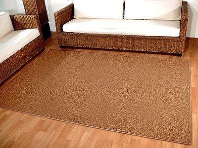 Natur Teppich Wolle Berber Karamell in 24 Größen