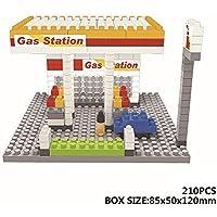 Micro Block Diamond Block Nano Block Building Gas Station 210pcs Parent Child Games Building Blocks Childrens...