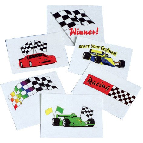 Racing Tattoos Party Accessory - 1