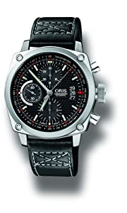 Oris Men's 4154LS BC4 Chronograph Stainless Steel Leather Strap Watch from Oris