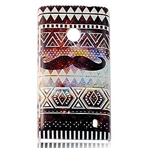 BestCool PC Matériel Peinte Housse de Peau Shiny Star Barbe Série de Protection pour Nokia Lumia 520 N520 - Brun