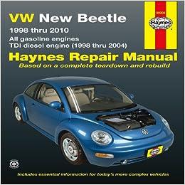 VW New Beetle 1998 thru 2010: All gasoline engines - TDI diesel engine