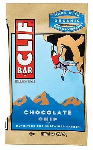 Clif Bar Energy Bar, Chocolate Chip, 2.4-Ounce Bars, 12 Count (Pack of 2)