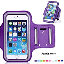 buy Minisuit Sporty Armband Running Gym Mobile Phone Running Cover Arm Band For Iphone 6 /6S. (Violet)