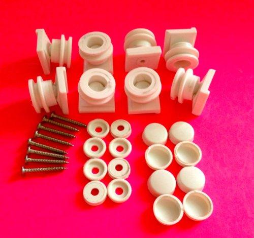 8 x Shower Door ROLLERS Ball Joint Runners/Wheels 18mm 19mm Wheel Diameter L1
