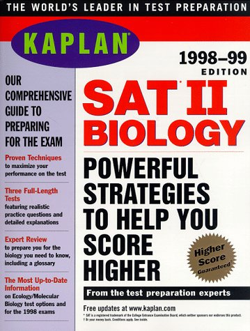 KAPLAN SAT II BIOLOGY 1998 99 (Serial) (Sat Ii Biology Kaplan compare prices)