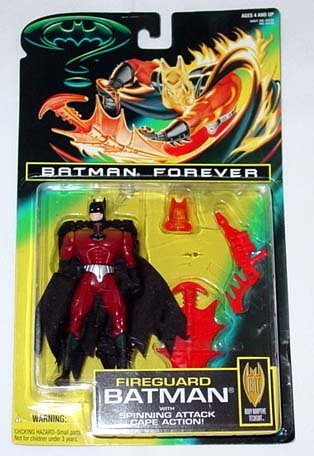 Batman Forever - Fireguard Batman with Spinning Attack Cape Action! - 1