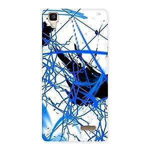 Gorgeous Blue Splasher Print Back Case Cover for Oppo R7