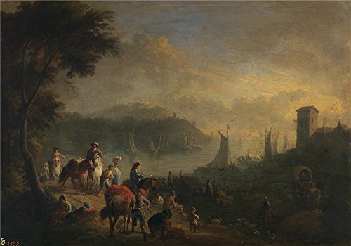 The High Quality Polyster Canvas Of Oil Painting 'Boudewijns Adriaen Fransz Un Puerto Second Half Of 17 Century Principio Del 18 Century ' ,size: 12 X 17 Inch / 30 X 44 Cm ,this Amazing Art Decorative Canvas Prints Is Fit For Hallway Artwork And Home Artwork And Gifts (Carrel Dishes compare prices)