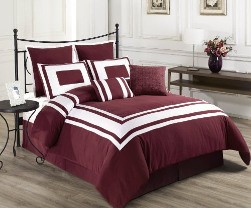 Cozy Beddings Lux Décor 8-Piece Comforter Set from BH&B INTERNATIONAL INC.