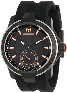 TechnoMarine Men's 610006 UF6 3 Hands Black Dial Watch