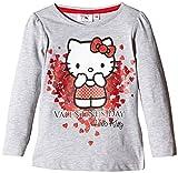 Sanrio Hello Kitty-Camiseta Niñas,    gris (Grey) 8 años (Talla fabricante: 8 años)