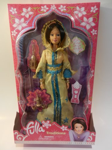 Fulla Muslim Collectible Doll Traditions Moroccan Yellow Blue Toy Eid Gift Ramadan