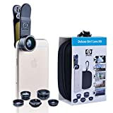 Apexel 5 in 1 HD Camera Lens Kit 198°Fisheye Lens+0.63x Wide Angle+15x Macro Lens+2X Telephoto Lens+CPL Lens for iPhone 6/6s 6/6s Plus SE Samsung Galaxy S7/S7 Edge S6/S6 Edge and most Smartphone