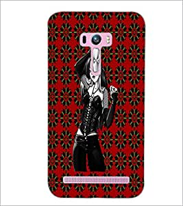 PrintDhaba Beautiful girl D-4063 Back Case Cover for ASUS ZENFONE SELFIE ZD551KL ULTRA (Multi-Coloured)