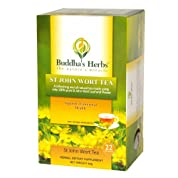 Buddha's Herbs Pure St John Wort's Flower Tea - 22-Count Tea Bags - Natural Herbs for Anxiety & Depression - Relax Tea - Herbal Infusion Tea to Help Relieve Stress