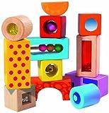 Toy - Eichhorn 100002240 - Color Holz-Soundbausteine, 12-tlg., bunt bedruckt