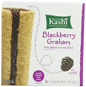 Kashi Cereal Bar, Blackberry Graham, 7.2 Ounce (Pack of 6)