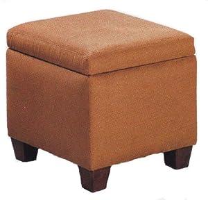 Amazon Com Brown Microfiber Modern Cube Storage