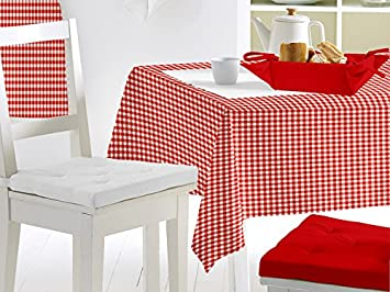 soleil d 39 ocre 857103 857103 yvich pep 39 s nappe toile cir e rectangle pvc pvc rouge 240. Black Bedroom Furniture Sets. Home Design Ideas