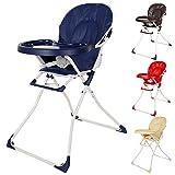TecTake Chaise haute de bébé pour enfants grand confort – diverses couleurs au choix – (Bleu)