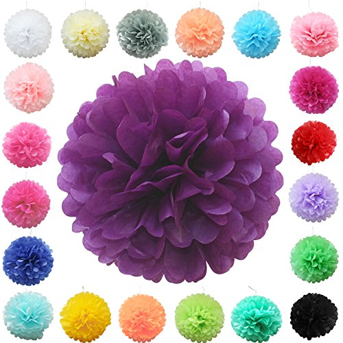 tts 12 30cm seidenpapier pompons ball farbig papier blumen hochzeit party geburtstag. Black Bedroom Furniture Sets. Home Design Ideas