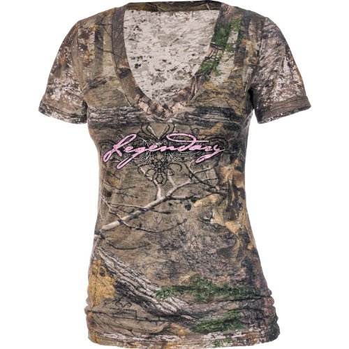 New Legendary Whitetails Women's Realtree Xtra Camo Remedy Burnout Tee