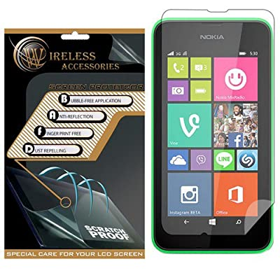 Spots8« for Nokia Lumia 630/635, 2 Piece Snap On Cellphone Cell Phone Hard Protective Case Cover with Free Screen Protector - Mint from Spots8