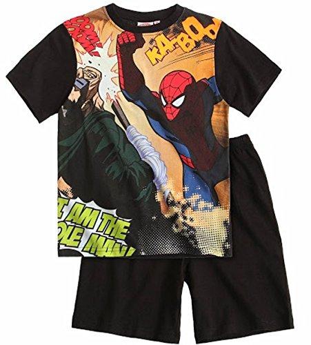 Spiderman Schlafanzug Kollektion 2014 Shorty 98 104 110 116 122 128 134 140 Jungen Shortie Pyjama Neu Sommer Schwarz (98 - 104)
