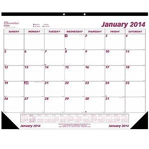 Amazon Com Brownline 2014 Monthly Desk Pad 22 X 17