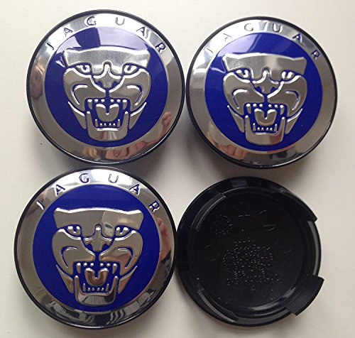 set-of-4-chrome-blue-jaguar-alloy-wheel-centre-caps-badges-emblem-57mm-xk-xk8-xkr-xj-xj8-xjr-xj6-xf-
