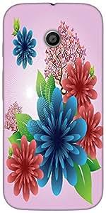 Snoogg Spring Flowers Designer Protective Back Case Cover For Motorola E 2Nd ...