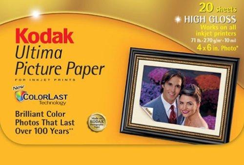 kodak-ultima-high-gloss-4x6-photo-paper-for-inkjet-printer-20-sheet-package