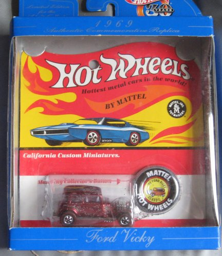 Hot Wheels 30th Anniversary Commerative Replica 1969 Ford Vicky RED - 1