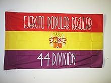 BANDERA del 44 DIVISION EJÉRCITO DE LA REPÚBLICA ESPAÑOLA 150x90cm para palo - BANDERA ESPAÑOLA REPUBLICANA 90 x 150 cm - AZ FLAG