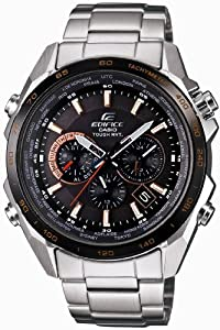 Casio EDIFICE Orange Arrow Series - Solar Tough MVT - Multiband 6 Radio Controlled Men's Watch EQW-T610DB-1A5JF (Japan Import)