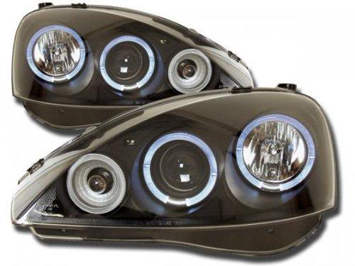 Phares set pour Opel Corsa (type C) année 01-06 noir [Meccanico]