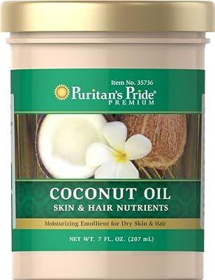 Puritan's Pride Coconut Oil for Skin & Hair-7 fl oz Oil