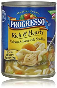 Progresso Rich & Hearty Soup, Chicken & Homestyle Noodles, 19 Oz