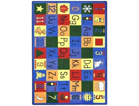 "Joy Carpets Kid Essentials Early Childhood Around The Block Rug, Multicolored, 10'9"" x 13'2"""